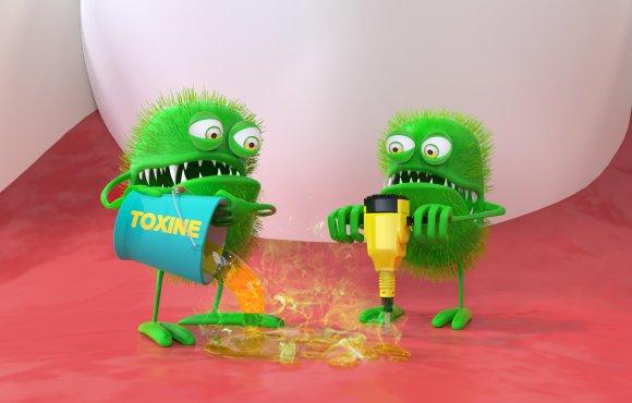 Fresh-B : 3D Green Bacteria