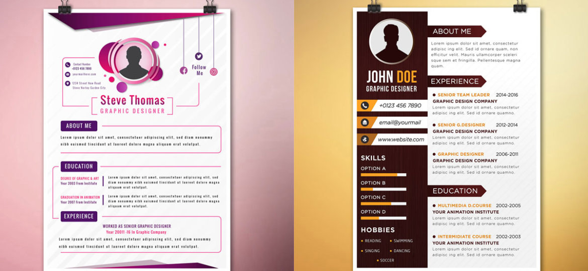 Cool Resume Design Archives