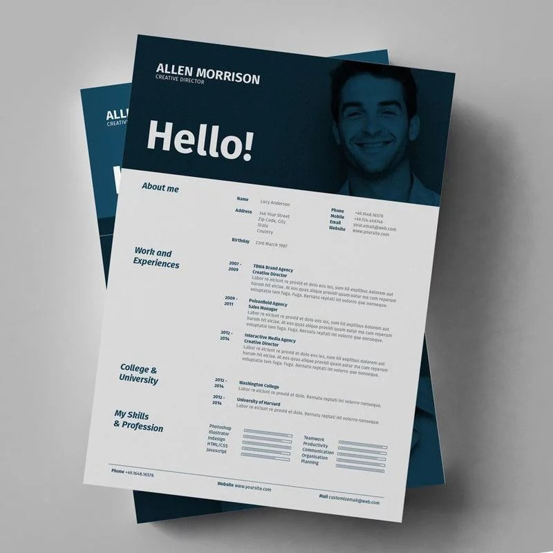 CLASSY AND STRAIGHTFORWARD RESUME