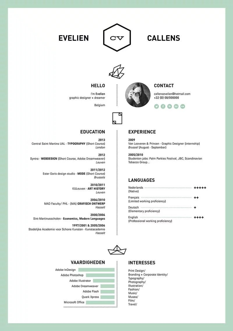 SIMPLE BORDERED RESUME