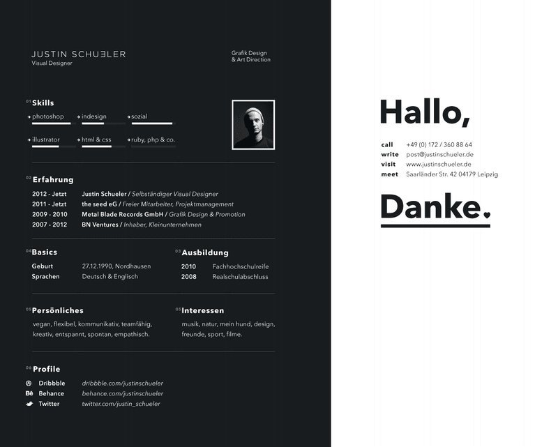 HORIZONTAL ORIENTATION RESUME